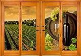 Sticker Fenster Irre L Auge Deko Trauben Wein OEM 2562(10Maße), 150x104cm