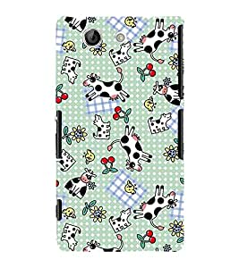 Fuson Premium Printed Hard Plastic Back Case Cover for Sony Xperia Z4 Compact