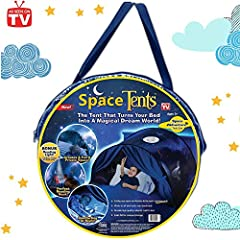 Idea Regalo - Dream Tents Magical World Tende Kid's Fantasia Casa da sogno Kids Pop Up Bed Tent regalo per bambini (Avventura spaziale)