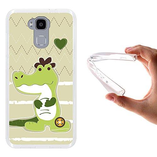 WoowCase Doogee Y6 4G Hülle, Handyhülle Silikon für [ Doogee Y6 4G ] Afrikanisches krokodil Handytasche Handy Cover Case Schutzhülle Flexible TPU - Transparent