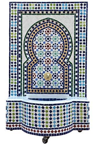 Marokkanischer orientalischer ORIGINAL Mosaik Gartenbrunnen Brunnen Mosaikbrunnen Zimmerbrunnen Muster 19 inklusive Pumpe