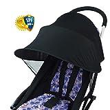 Gereton Baby UV Reinigungstuch Rayshade Buggy, Winddicht Regendicht Sun Schutz Regenschirm Vorzelt Shelter Universal Zubehör