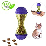 Pet Cat Dog Feeder Toy Dispensing Ball Self Feeder Food Dispenser in Tumbler Shape Playing Toy for Pet Dogs Cats (For Cat)
