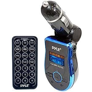 Pyle Transmetteur FM avec télécommande pour iPod/iPhone/lecteur MP3 Bleu