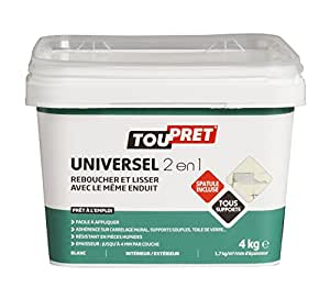 Toupret 310030 Enduit universel 2 en 1 - un pâte -  Pack de 4 kg