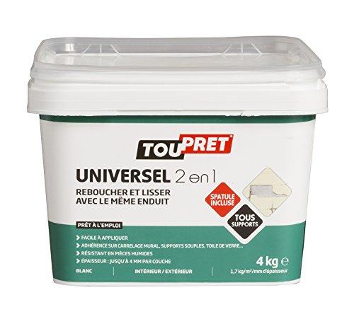 Toupret 310030 - Intonaco universale 2 in 1, confezione da 4 kg