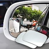 2PCS auto sicurezza parcheggio retrovisore pioggia ombra grandangolare convesso