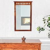 Js Home Decor Sheesham Wood Frame Wall Mirror For Living Room Stylish | Walnut Finish