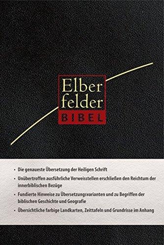 Elberfelder Bibel- Standardausgabe, ital. Kunstleder, schwarz, mit Reißverschluß