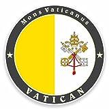 2 x 10cm/100 mm El Vaticano, Roma, Italia banderaEtiqueta autoadhesiva de vinilo adhesivo portátil de viaje equipaje signo coche divertido #9510