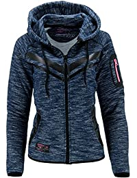 Geographical Norway Sudadera con Cierre Fluence Azul Marino XL (FR 4)