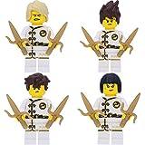 LEGO Ninjago White Wu-Cru Training Gi 4er Figurenset Ultimate 22 - Lloyd Jay Kai NYA mit 8 GALAXYARMS Waffen Saigabeln