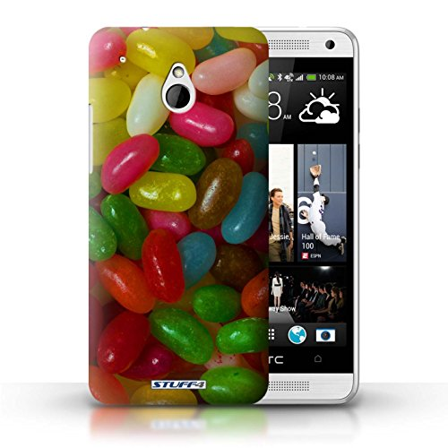 Kobalt® Imprimé Etui / Coque pour HTC One/1 Mini / Smarties conception / Série Bonbons Jelly Beans