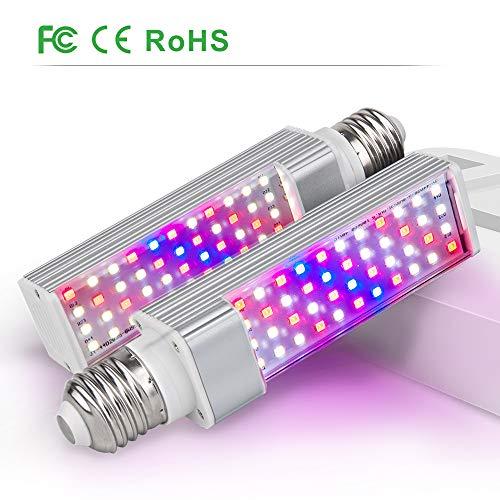 Relassy Pflanzenlampe E27, 2 Packungen Volles Spektrum