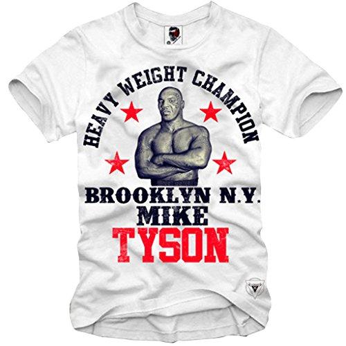 E1SYNDICATE T-SHIRT MIKE TYSON HEAVYWEIGHT BOXING CHAMP BROOKLYN GYM S-XL (Champs-xl T-shirt)