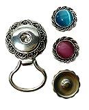 Augfis Click-Button magnetisch Brosche für Brille Aufhänger mit 2 Stück Druckknöpfe