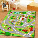 HUAHOO Kids Rug With Roads Kids Rug City...