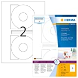 HERMA 4471 CD-/DVD-Etiketten inkl. Positionierhilfe DIN A4 blickdicht (Ø 116...