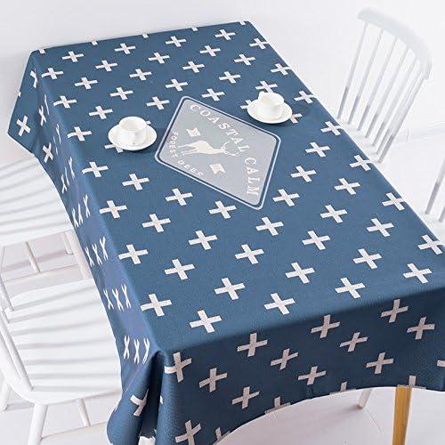 180140 cm blu scuro renna scandinavo moderno Instagram Garden picnic picnic picnic rettangolare da pranzo tovaglia in cotone lino quadrato eco-friendly copre B076M2GV75 Parent | Exit  | Italia  | Facile da usare  fd3f0a