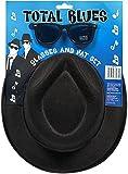 Global Fashion Blues Brothers Hat Gläser Set 2Tone Ska Zubehör Herren Hirsch Nacht Fancy Kleid