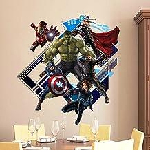 Imagen pegatinas de pared de Superheroes pegatinas de pared de Superhéroes para niños decoración de la pared