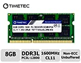 Timetec Hynix IC 8GB DDR3L 1600MHz PC3-12800 Unbuffered Non-ECC 1.35V CL11 1Rx8 Single Rank 204 Pin SODIMM Computer Portatile Memorie Module Upgrade (8GB)