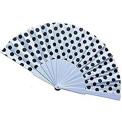 Eruditter Abanicos de Mano 9 Colores Elegante plástico Abanicos españoles de Mano Lunares japoneses Abanicos Plegables de Mano Regalos Abanicos de Papel