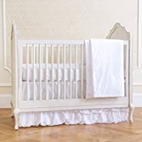 Summer Classic Bedding Set with Adjustable Crib Skirt, Swiss Dot, 4 Piece
