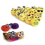 Cusfull Mini Emoji Keychain Lovely Emoji Plush Pillows Emoticon Key Ring Soft Party Bag Filler Toy Gift for Kids (20 pack) Bild 3