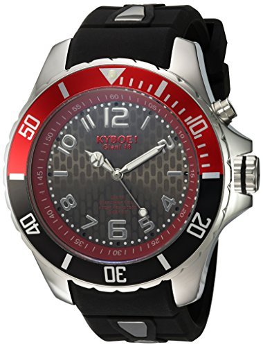 KYBOE! 'Power' Quartz Stainless Steel and Silicone Casual Watch, Color:Black (Model: KY.48-013.15)
