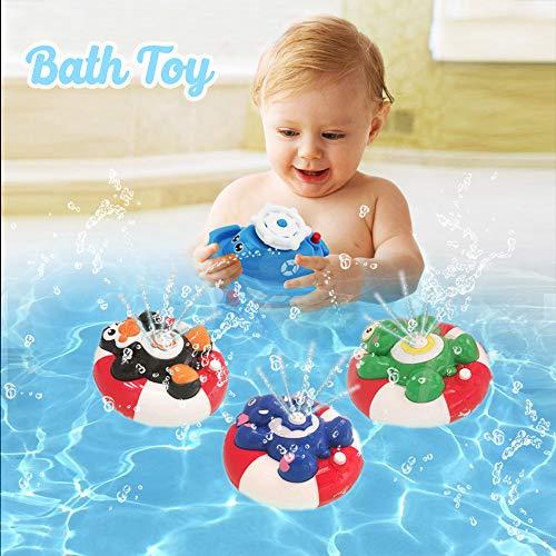 WISHTIME Spray Wasser Baby Badespielzeug Wasserpumpe Elektronische Spray Spielzeug Float Drehen Mit Brunnen Schwimmende Badewanne Dusche Bad Spielzeug Für Baby Kleinkind Infant Kid Party