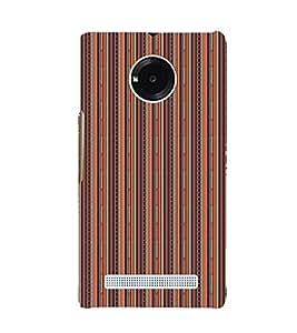 EPICCASE straight ethnic lines Mobile Back Case Cover For YU Yuphoria (Designer Case)