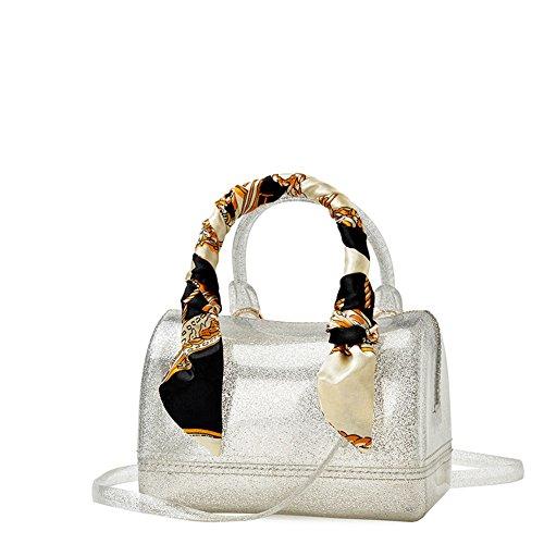 Borsa Monospalla Messenger Con Sciarpa In Seta/Mini Cuscino Trasparente Bag-C A