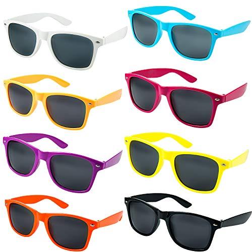 Comius Sharp 8 Set Neonfarben Sonnenbrille Lustige Party Sonnenbrillen Modische Party Lieferungen für Erwachsene Pool Party, Geburtstag, Hochzeit, Party im Freien