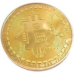 Bitcoin Moneda BTC, color dorado (2018 Nueva relieve), Perfecto para los fanáticos de criptomonedas