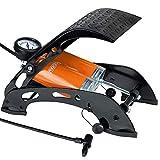 Deuba Fußluftpumpe 7 bar 125cm Doppelzylinder 80cm Schlauch Adapterset Fahrrad Reifen Luftmatratze Fußpumpe