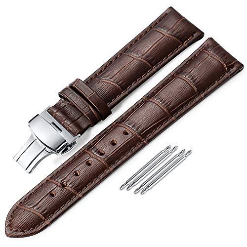iStrap Uhr Band18mm19mm 20mm 21mm 22mm 24mm Kalbsleder Aligator Muster Armband Ersatz Band Uhrenarmband mit Edelstahl Faltschließe