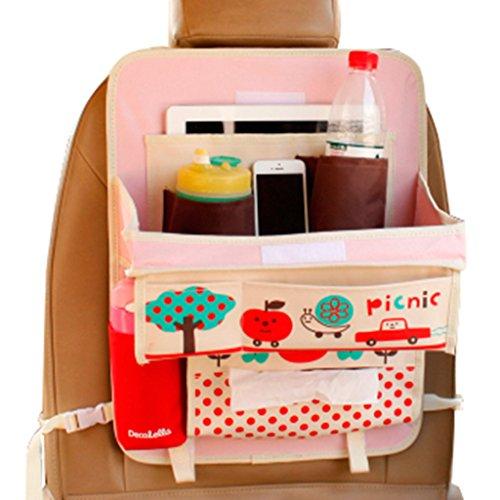 2x Rückenlehnentasche Rückenlehnenschutz Spielzeugtasche SorgfäLtig AusgewäHlte Materialien Rücksitztasche