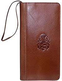 Valentine Gift For Your Loved Ones-Style98 Brown Hand Crafted Women's clutch|| Men's Travel Wallet|| Embossed Unisex Multiple Chequebook Holder||Passport Pouch|Passport Holder||Passport wallet ||Long wallet