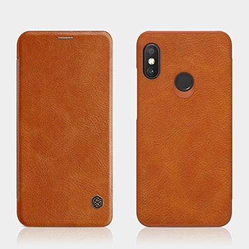 "XunEda Xiaomi Mi A2 Lite 5.84 ""Caso da tampa, Flip Caso premium PU capa de couro protetora para Xiaomi Mi A2 à prova de choque Smartphone Lite (Brown)"