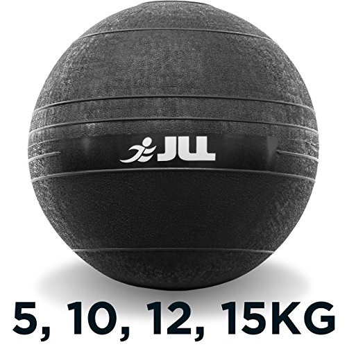 JLL® Slam Ball - No Bounce, Heavy Duty Rubber, Available in 5kg, 10kg, 12kg & 15kg - Sports Medicine Ball, Ideal for Cross Fit, Core Workouts, Strength Training, HIIT Workouts (5kg)