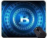 Yanteng Tappetino per Mouse con Bordo di Chiusura, tappetini per Mouse Dollar Bitcoin Wealth