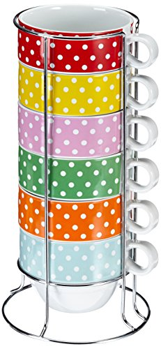 PT MINI DOTS - SET DE TAZAS PARA CAFE LATTE  PORCELANA