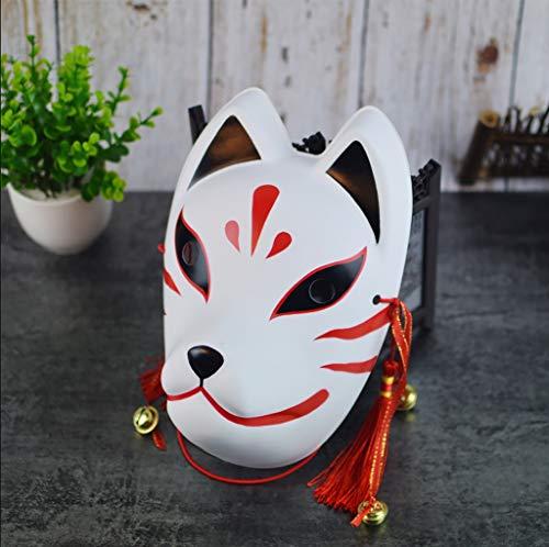 Maske Maske Gewicht 35g PVC Kunststoff Maske vibrierende fuchsmaske halbes Gesicht Erwachsene männer und Frauen im japanischen Stil und Wind Dance vielfalt Gesichtsmaske (Farbe : D)