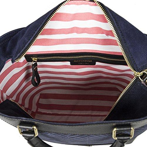 Gattabuia Laura, sac à main Blu (Ebano/Notte)
