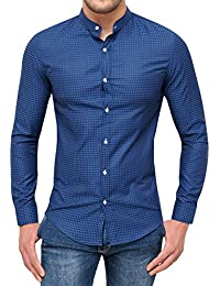 Camicia Uomo Sartoriale Blu Slim Fit Elegante Formale Casual 2a9a6f1c288