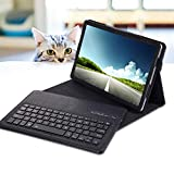 REAL-EAGLE Tastiera Custodia per Galaxy Tab S4 SM-T830/T835 (Inglese QWERTY), Custodia in Pelle con Wireless Staccabile Keyboard per Samsung Tab S4 10.5'' 2018 (Galaxy Tab S4 10.5 2018, Black)