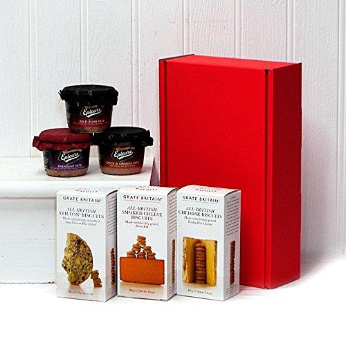 Cracker e Paté Regalo Rosso Cesto (6 Articoli)