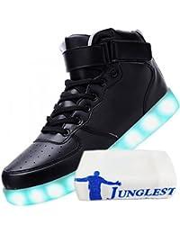 [Present:kleines Handtuch]Weiß 45 Sport Neu High Light JUNGLEST Freizeit Blinkende Sneakers Led Damen Top Farbwechs MQ46fyX10c