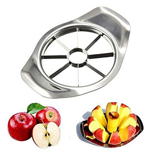 Fangfeen Edelstahl-Frucht-Cutter Slicer, Gemüse, Obst Blatt wedger Apple-Haushalt Küche Peeler